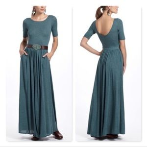 Anthropologie Bordeaux Teal Torey Knit Maxi Dress